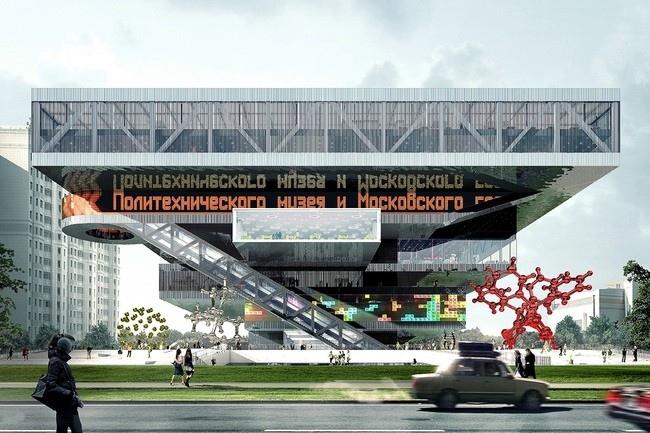 Новое здание Политехнического музея. Конкурсный проект «Mecanoo International B.V.» и ТПО «Резерв»
