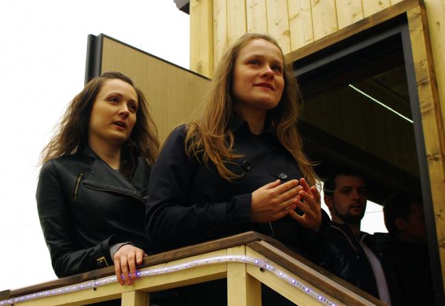 Анна Луконская и Наталья Николаева, авторы проекта «Купе».  Фотография Аллы Павликовой