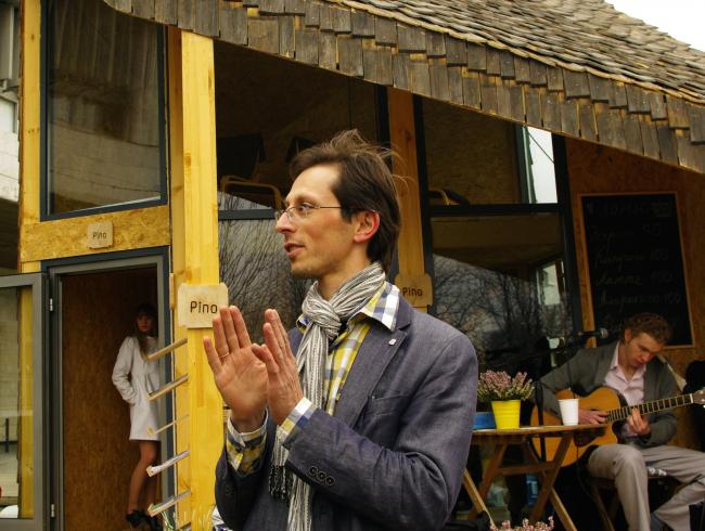 """Андрей Асадов, автор проекта """"Лоскуток XXS"""". Фотография Аллы Павликовой"""