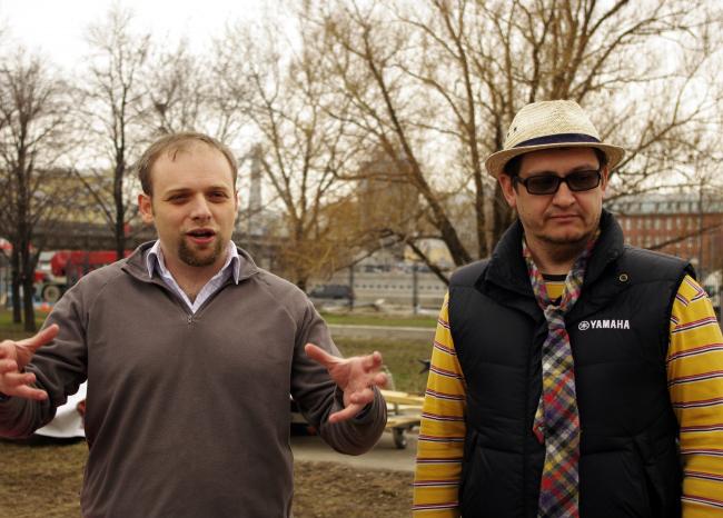 Влад Кунин и Олег Распопов о проекте образовательного центра «In-Out». Фотография Аллы Павликовой