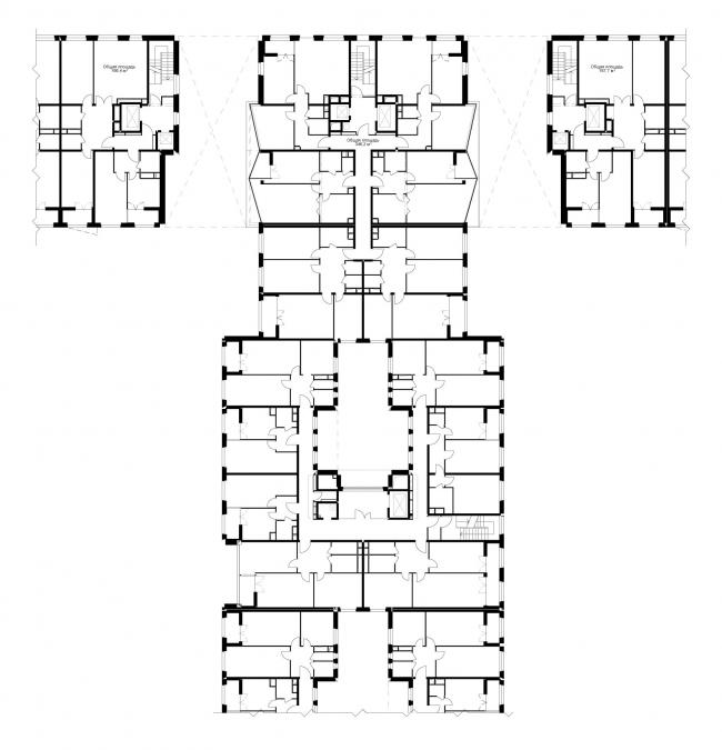 Жилой комплекс «Акварели». Фрагмент поэтажного плана © АБ «Остоженка»