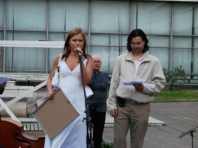 Вручение диплома мастерской Алексея Козыря и Александра Пономарева. фото Юлии Тарабариной