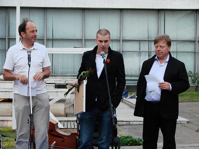 Вручение диплома Борису Бернаскони. фото Юлии Тарабариной