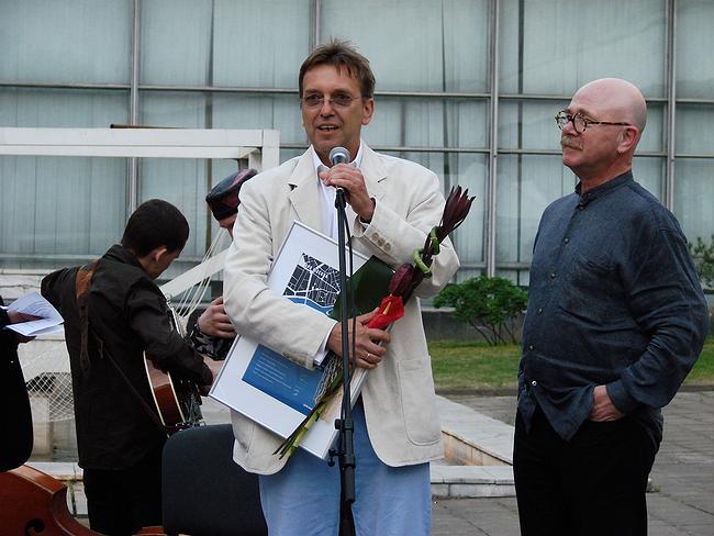 Вручение диплома Сергею Киселеву. фото Юлии Тарабариной