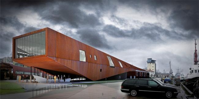Проект морского музея в Лиепае Mare Nostrum © INDIA Architects