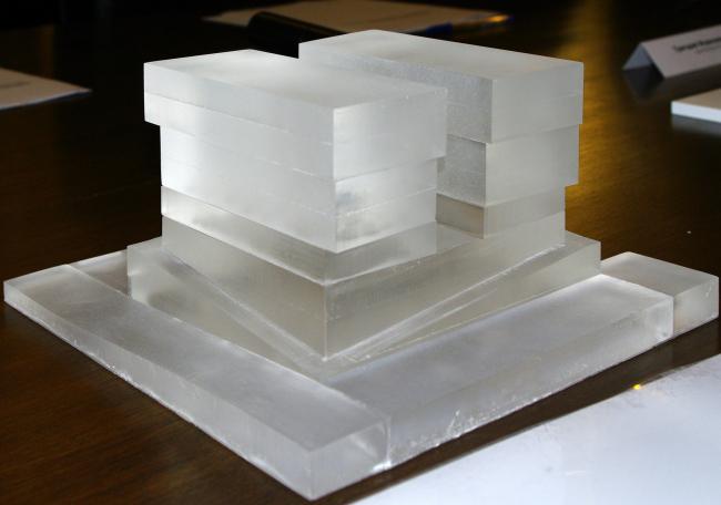 3 место. ADM Architects. Макет. Фотография Аллы Павликовой