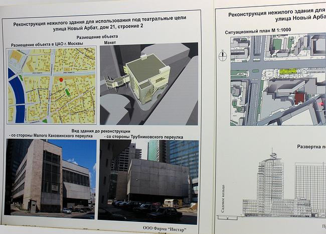Проект реконструкции здания театра Чехова на Новом Арбате, 21, стр.2