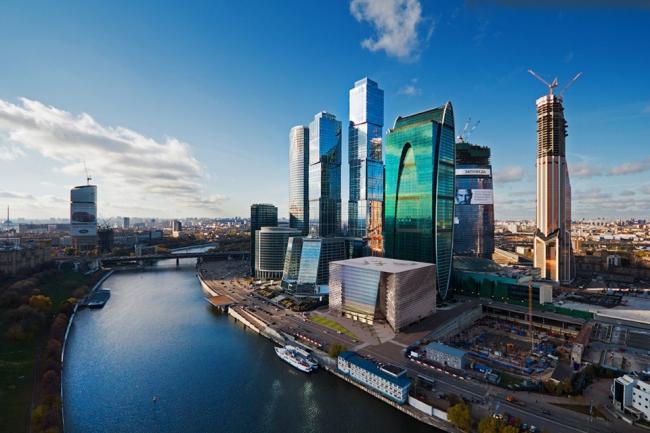 Врисовка здания в панораму «Москвы-Сити»