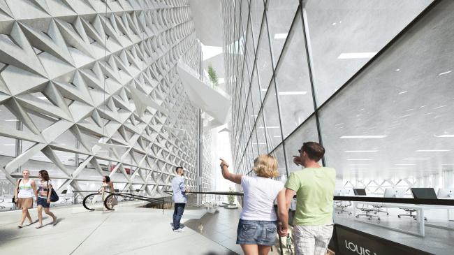 Многофункциональный комплекс «Империя Тауэр», атриум. UNK project