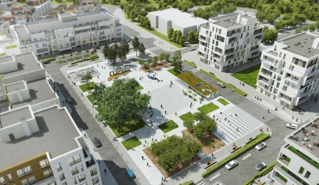 Концепция ландшафтного решения для ЖК «Загородный квартал» в Москве © anOtherArchitect & TDI