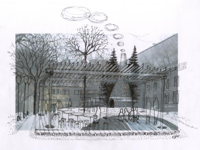 Проект  Печка. Автор: Александра Гладышева. Иллюстрация предоставлена организаторами конкурса.