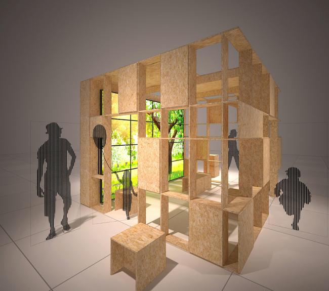 Проект Точка взаимодействия. Инсталляция «Природогород». Автор: Вера Колгашкина. Иллюстрация предоставлена организаторами конкурса.