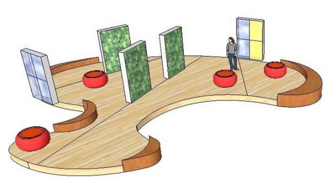 Проект Бесконечность. Инсталляция. Авторы: Анастасия Юхневич, Кристина Кордюкова. Иллюстрация предоставлена организаторами конкурса.