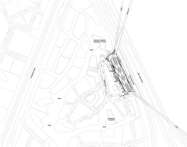Станция метро Финансового района Короля Абдаллы. Предоставлено Zaha Hadid Architects