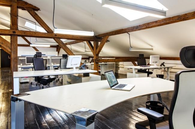 Организация пространства.  Совместный офис компаний К.С.Бюро и Т+Т Архитектс.  Архитектурное бюро Т+Т Архитектс, интерьеры К.С.Бюро