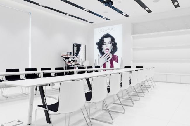 Дизайн-идея.  Академия красоты L'Oreal Professional.  Архитектурное бюро UNK Project