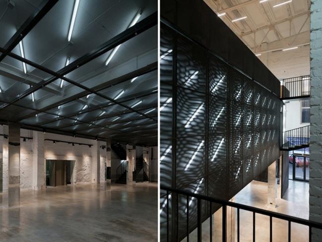Бизнес-пространство в общественном интерьере.  Пространство The Cube на Дизайн-заводе Флакон.  Архитектурное бюро Практика