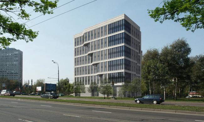 Офисное здание на Ленинском проспекте, 2011, Москва. SPEECH Чобан & Кузнецов. © www.archi.ru