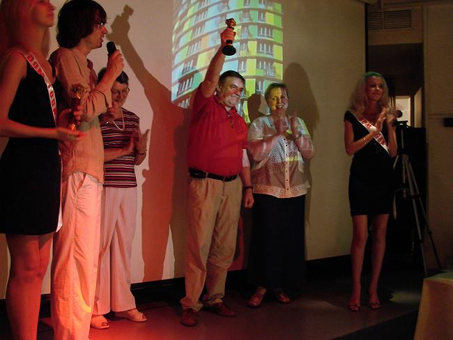 Авторы дома «Авангард» (архитекторы компании «Сергей Киселев и партнеры») – вручение награды «Дом года 2006»