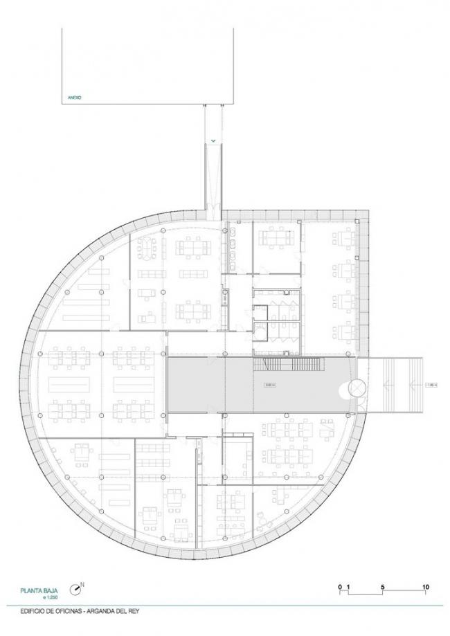 Штаб-квартира компании Hispasat © Herreros Arquitectos