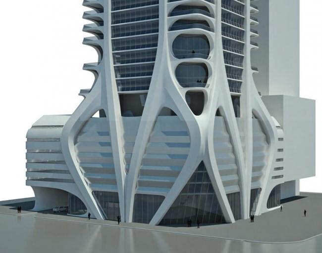 Башня One Thousand Museum. © Zaha Hadid Architects