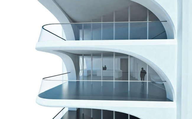 Башня One Thousand Museum. © Zaha Hadid Architects