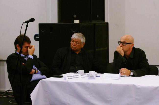 Слева направо: Олег Артемьев, Тотан Кузембаев и Николай Лызлов. Фотография А. Павликовой