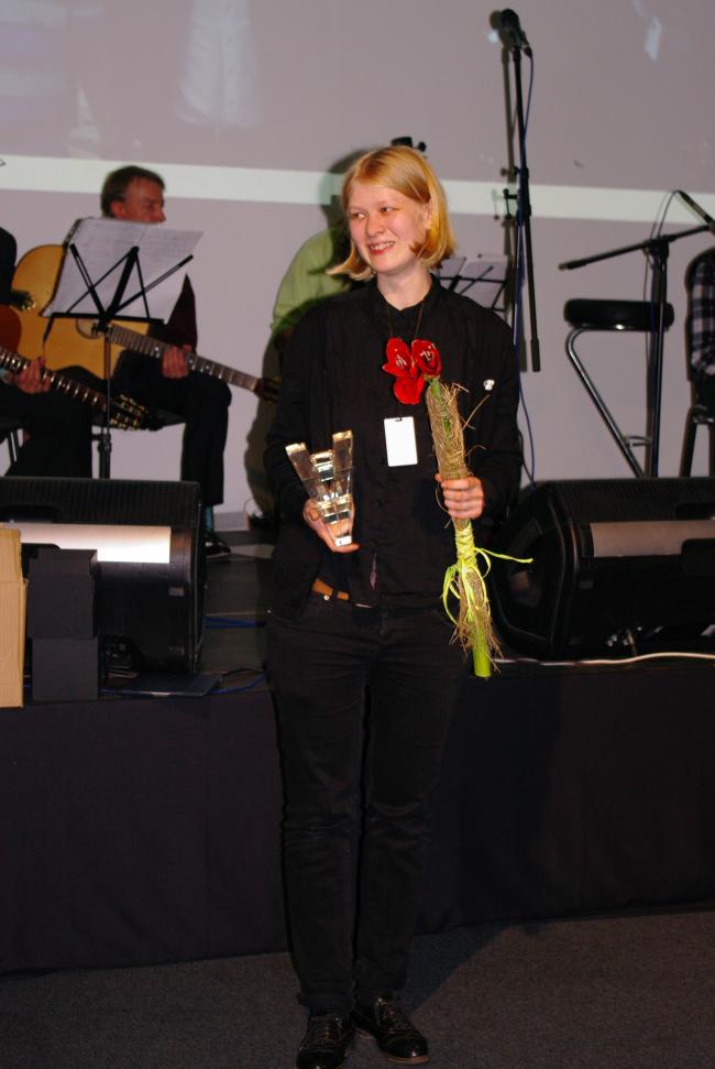 Победитель «Премии Авангард» Анастасия Грицкова. Фотография А. Павликовой