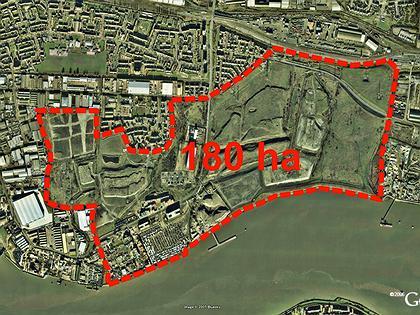 Проект реконструкции промышленной зоны на берегу реки Темзы в северо-восточной оконечности Лондон в районе Barking Riverside