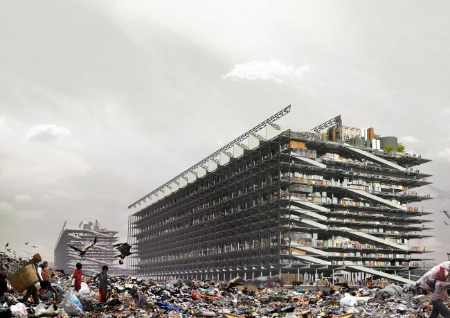 Проект «Давайте поговорим о мусоре» (Let-s talk about garbage). Хугон Ковальский (Польша). Фотография: archiprix.org