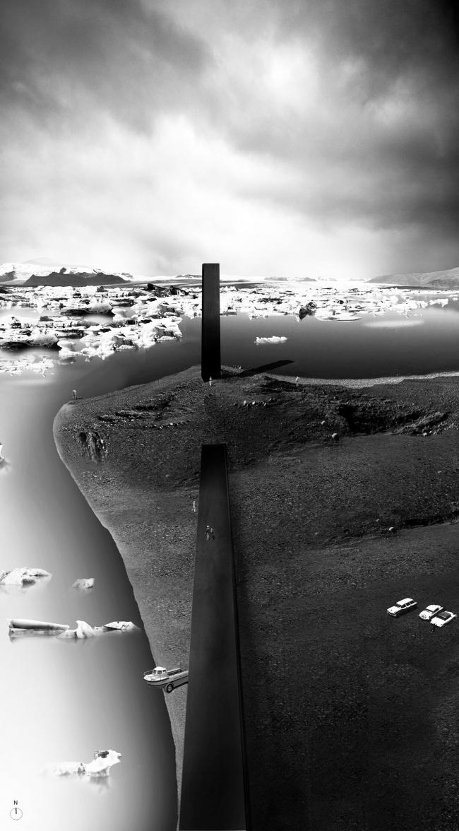 Проект «Мавзолей для Ватнайёкюдля» (Mausoleum for Vatnajokull). Дэвид Эдриан О'Райли (Шотландия). Фотография: archiprix.org