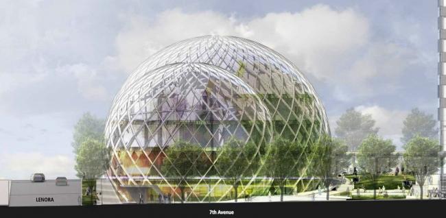 Экоцентр Biodome в штаб-квартире компании Amazon © NBBJ / Studio 216
