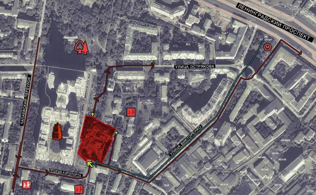 Реновация промышленной территории под лофт-квартал апартаментов Studio #8. Ситуационный план © Т+Т Architects