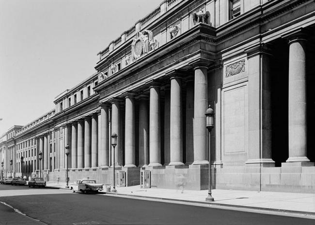 Старое здание Пенн-Стейшн (ныне снесено). Фото 1962. Library of Congress, Prints & Photographs Division, NY,31-NEYO,78-4