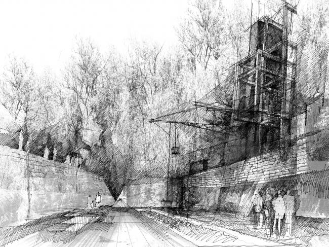 Пороховой холм: Континуум старения ландшафт (Magazine Hill: A weathered continuum). Cliff Gouws (ЮАР). Фотография: archiprix.org