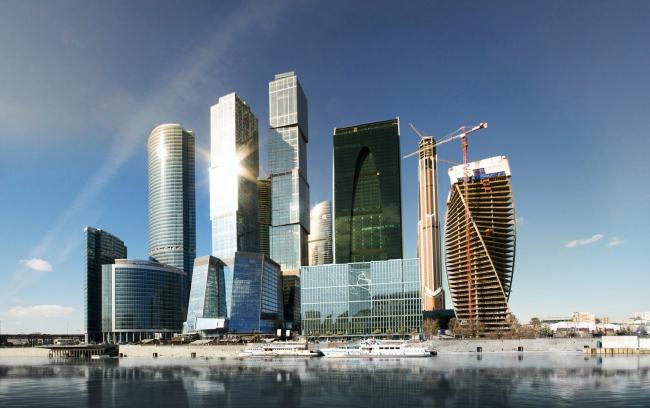 Панорама «Москва-Сити» со встройкой конкурсного предложения