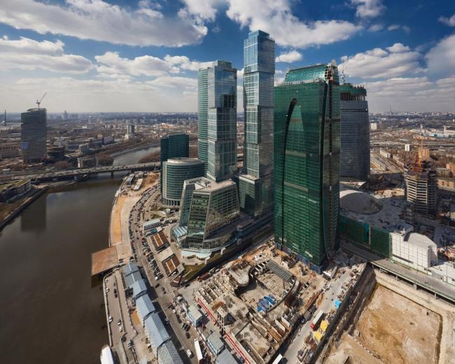 Панорама участка застройки в «Москва-Сити»
