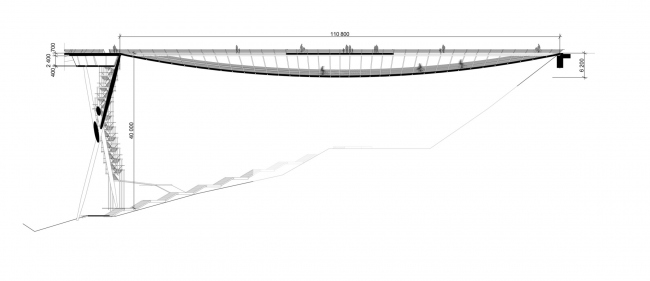 Конкурсный проект «Мост ангелов» © Архитектурное бюро Асадова