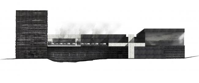 Главный фасад. Баня по-черному. Проект Анны Шевченко