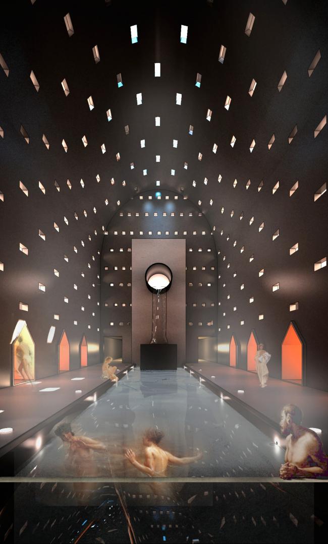 Баня-атриум в спа-отеле. Проект Марии Тюлькановой