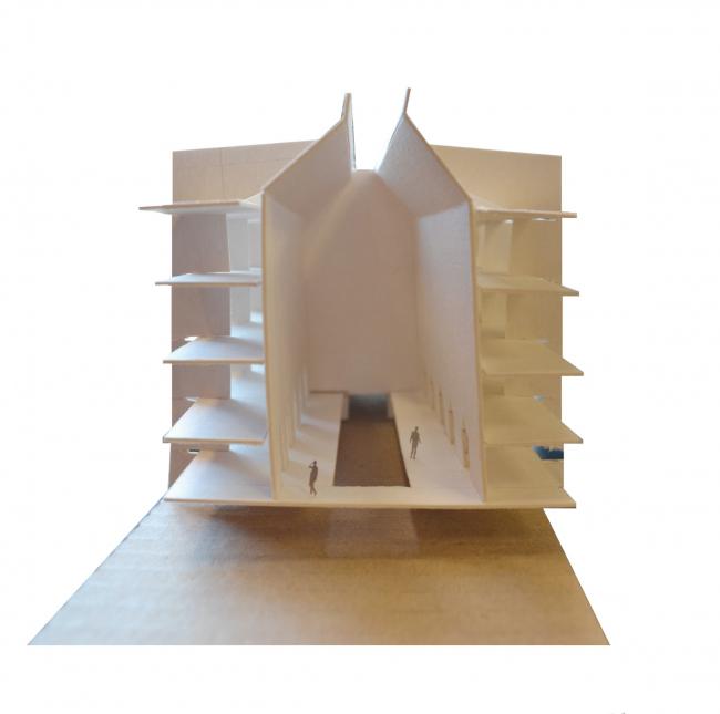 Макет. Баня-атриум в спа-отеле. Проект Марии Тюлькановой