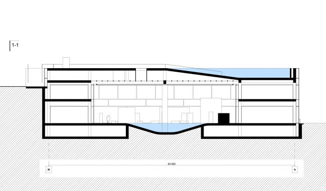 Разрез. Баня атмосферных явлений. Проект Максима Зуева