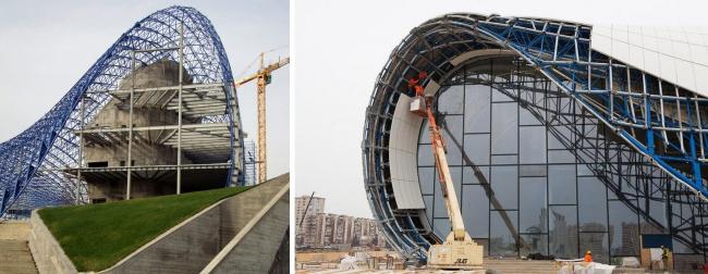 Структурная рама из стальных трубок. Фотографии: Zaha Hadid Architects, Alex Cheba
