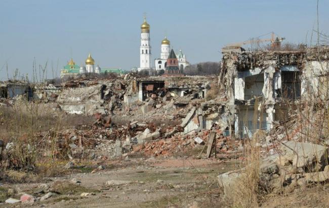 Экскурсия по территории будущего парка Зарядье. Фотография Елены Петуховой