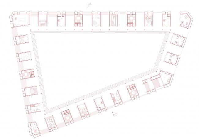 План первого этажа. Проект Юлии Андрейченко