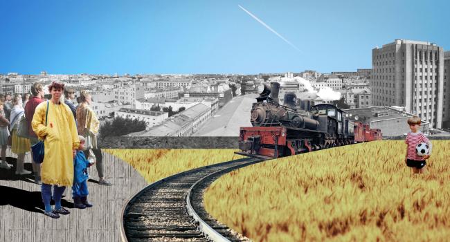 Железная дорога на крыше Детского мира. Проект Юлии Андрейченко