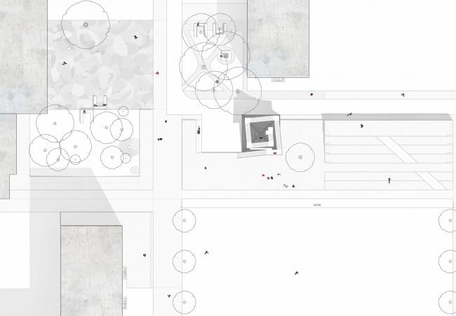 Фрагмент плана дворового пространства. Проект Марии Карцевой