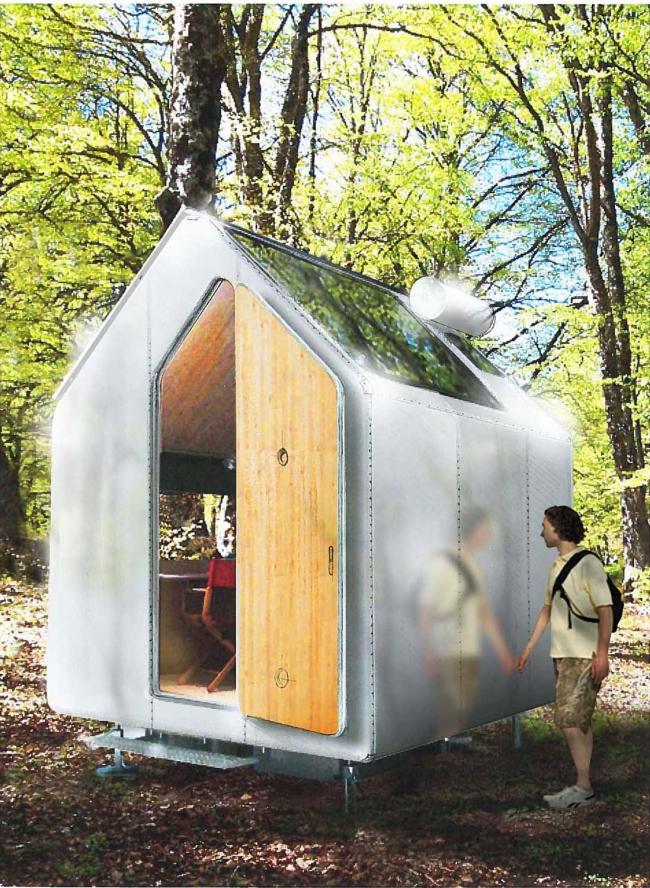 Мини-дом «Диоген». Проект © Renzo Piano
