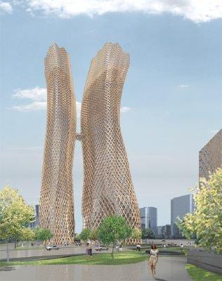 Проект небоскреба «Конверс-Банка» мюнхенского бюро E+E Architecture and Urban Design