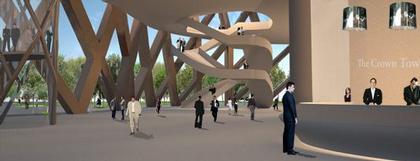 E+E Architecture and Urban Design. Интерьер вестибюля здания «Конверс-Банка»